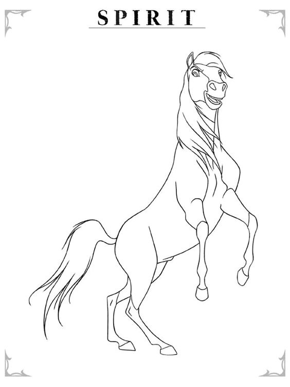 Spirit The Horse  To print  Pinterest  Horse Drawings and