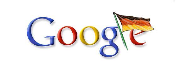 Google Doodle vom 03.10.2007 - Tag der deutschen Einheit