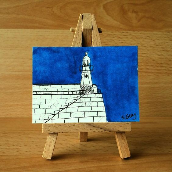 St Ives watercolour miniature painting ORIGINAL ACEO  £4.00
