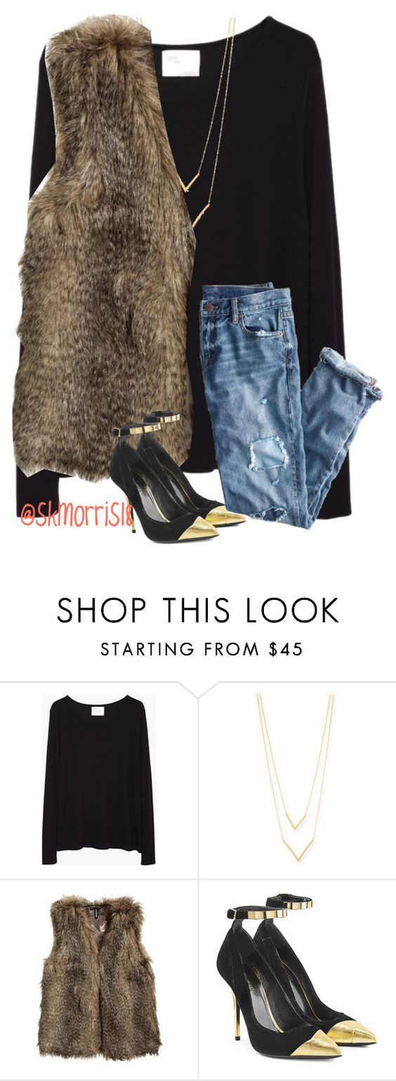"""edgy look for night out"" by preppy-southern-gals ❤ liked on Polyvore featuring La Garçonne Moderne, Jennifer Zeuner, H&M, Balmain and J.Crew"