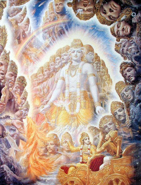 Mahabharata - Krishna shows Arjuna The Universal Form