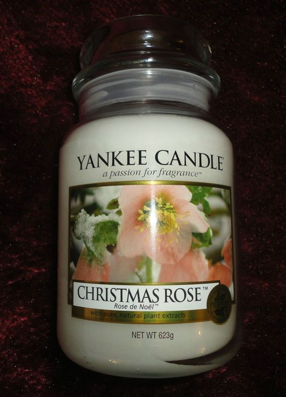 Yankee Candle Large Jar Christmas Rose VHTF Rare USA Only Exclusive Gift
