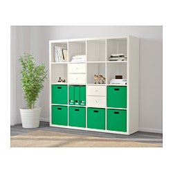 IKEA - KALLAX, Shelving unit, birch effect, , You can use the furniture as a room divider because it looks good from every angle.