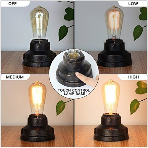 Touch Control Table Lamp Vintage Desk Lamp Small Industrial Touch