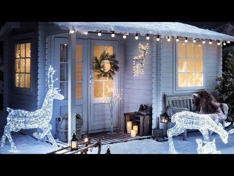 Fotos Casas Decoradas Navidad.Casas Adornadas De Navidad Por Fuera Youtube Unicornios
