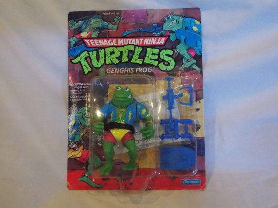Genghis Frog TMNT Teenage Mutant Ninja Turtles Figure Japanese RARE 14 Back 1989 #Takara