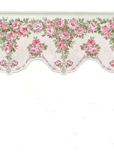 Picasa floral and roses on pinterest - Cenefas de papel ...