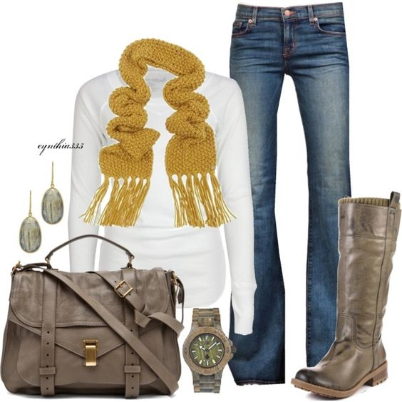 """""""Keeping it Simple~Mustard and Taupe"""" by cynthia335 on Polyvore"""