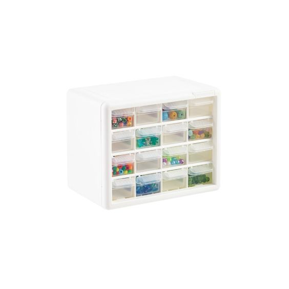 "16-Drawer Cabinet Client's current bead storage 10-1/4"" x 6-1/4"" x 8-1/4"" h"