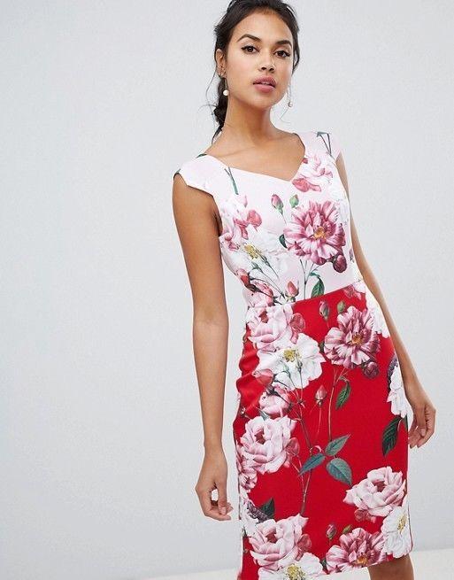 New Ted Baker Saafi Iguazu Two Tone Pencil Dress Sz 2 Uk 10 Fashion Clothing Shoes Accessories Womensclothing Dresses Ebay Link Mariage