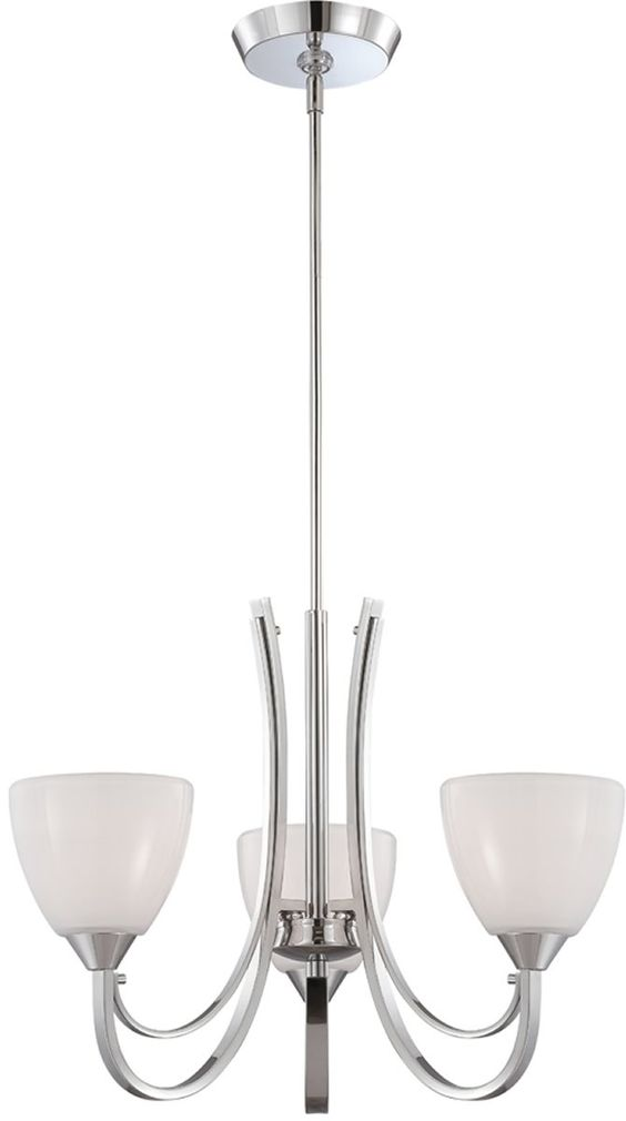 "0-026743>22""""w Cortona 3-Light Chandelier Chrome"