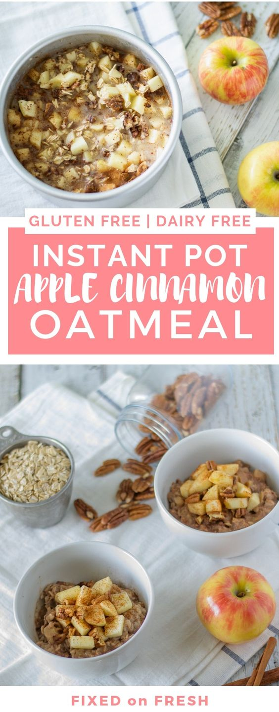 Instant Pot Apple Cinnamon Oatmeal