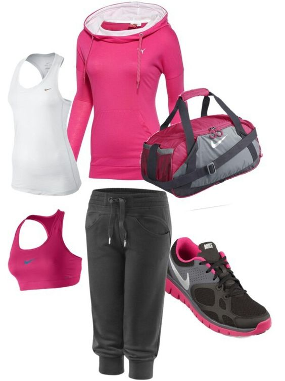 Workout Outfit. I like these pants, but I wouldn't wear them to actually work out...but I still love them! They look super comfy!!