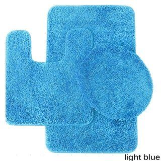 Florence 3 Piece Bathroom Rug And Toilet Seat Cover Set Assorted Colors Bathroom Rugs Blue Bathroom Rugs Turquoise Bathroom