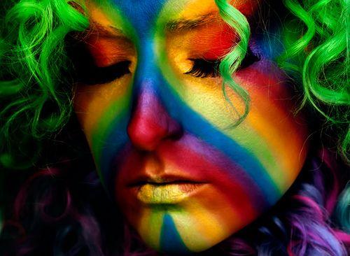 face paint rainbow