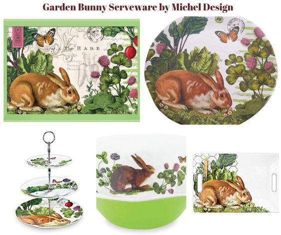 Garden Bunny Serveware by Michel Design