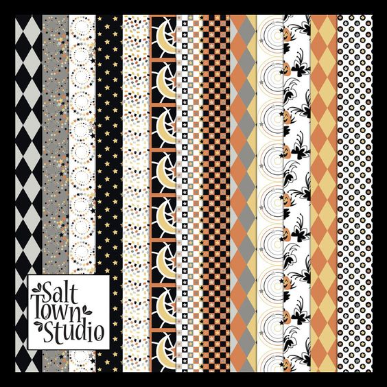 Friday's Guest Freebies ~ Salt Town Studio  ✿ Follow the Free Digital Scrapbook board for daily freebies: https://www.pinterest.com/sherylcsjohnson/free-digital-scrapbook/ ✿ Visit GrannyEnchanted.Com for thousands of digital scrapbook freebies. ✿ free Halloween autumn scrapbook paper