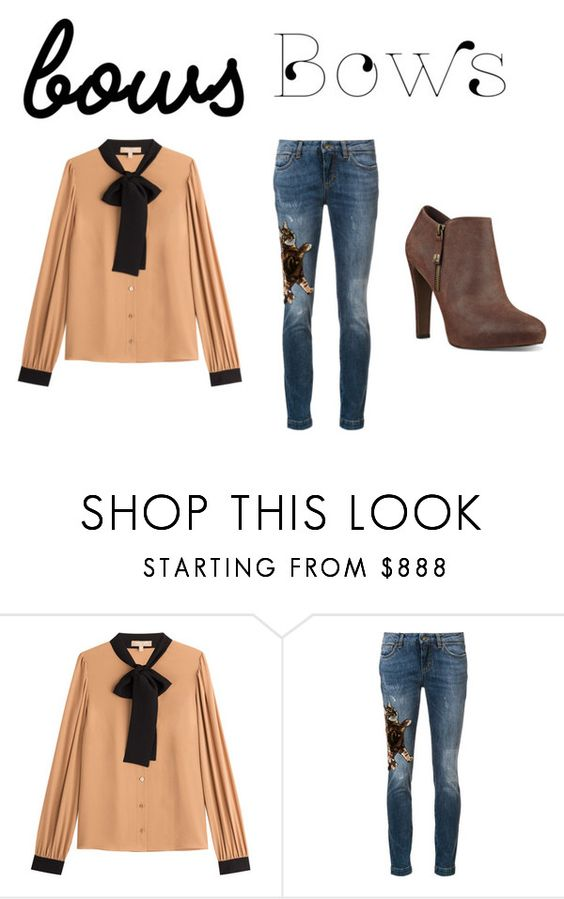"""""""Put a Bow on It!"""" by officialrt ❤ liked on Polyvore featuring Michael Kors, Dolce&Gabbana and Nine West"""
