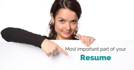 Important Parts of a Resume Employee Management Pinterest - parts of a resume