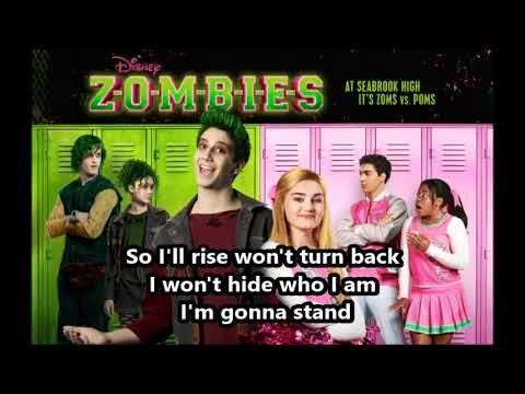 Zombies Stand Lyrics Youtube Zombie Disney Zombie Movies Disney Musical