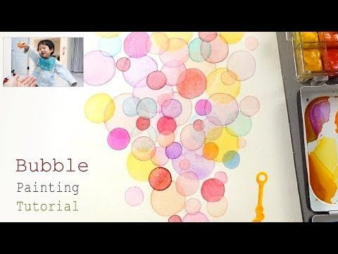 Bubble Painting Techniques Basic Easy Drawing Video For