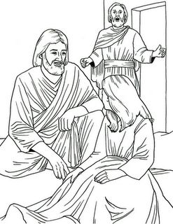 Jesus heals jairus 39 daughter could use with http for Jesus heals jairus daughter coloring page