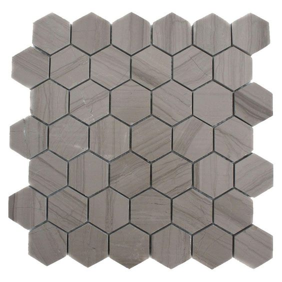 Splashback Tile Athens Grey Hexagon 12 In. X 12 In. X 8 Mm