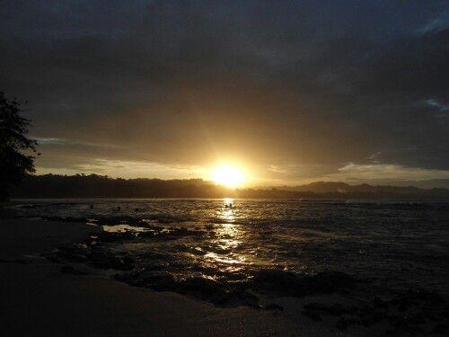 Atardecer en la.playa #sunset