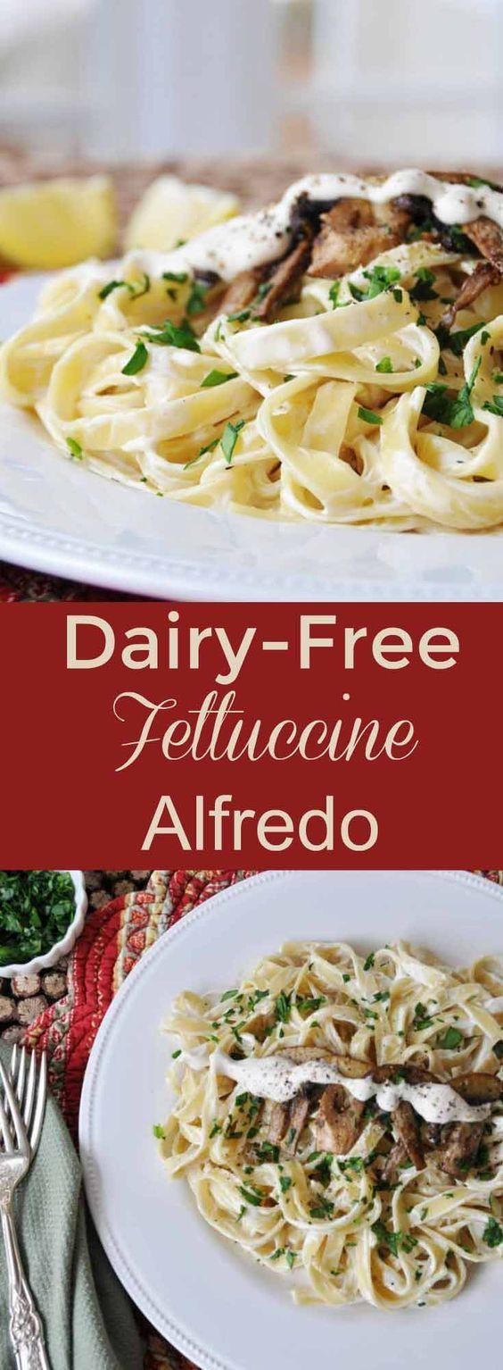 Dairy Free Fettuccine Alfredo