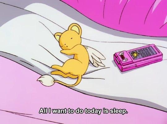 All I Want To Do Is Sleep Sakura Card 90s Anime Cardcaptor Sakura