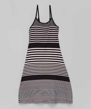 Another great find on #zulily! Black Stripe Maxi Dress - Toddler & Girls #zulilyfinds