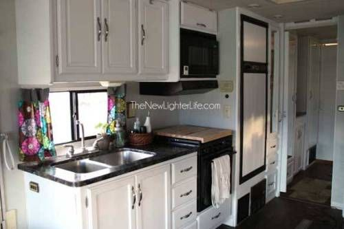 Rv Owners Who Painted Their Cabinets With Images Painting Oak