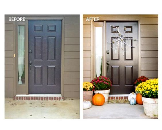 Add something creepy and crawly to your front door this Halloween by