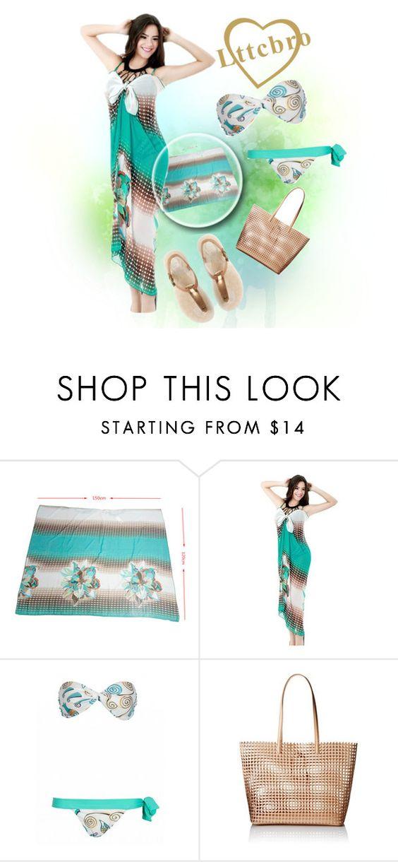 """Win Women's Cover Up Dress with MyLttcbro.com"" by teez-biz-nez ❤ liked on Polyvore featuring Loeffler Randall, UGG Australia and Lttcbro"