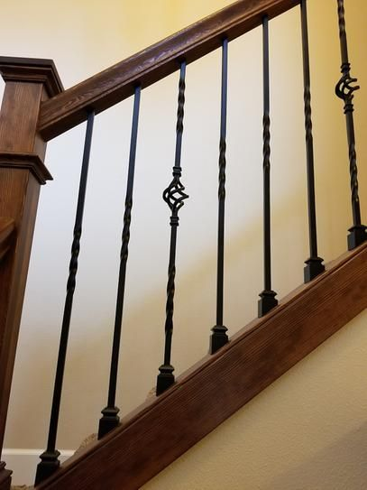 Wm Coffman 44 In X 1 2 In Satin Black Single Twist Hollow Iron | Iron Spindles Home Depot | Ole Iron Slides | Wm Coffman | Stair Parts | Oil Rubbed | Deck