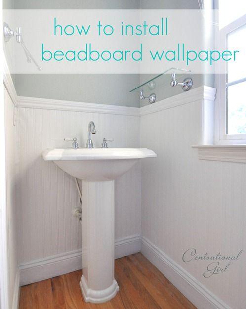 best ideas about install beadboard bathroom beadboard and downstairs bathroom on pinterest. Black Bedroom Furniture Sets. Home Design Ideas