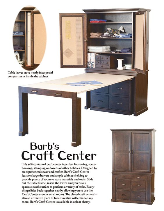 Compact hobby furniture for small apartments craft for Craft cupboard with table