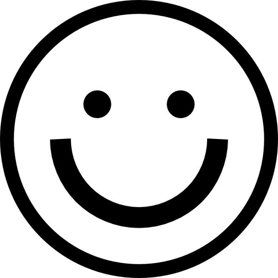 Straight Line Face Clip Art : Straight face clipart black and white smiley hi