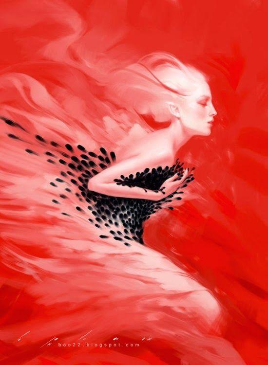 As pinturas digitais com belas mulheres em fantasia e surrealismo de Bao Pham