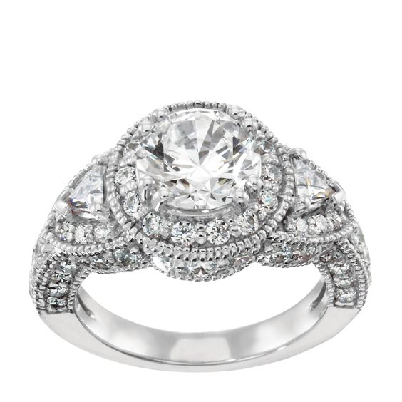 14K White Gold 1.03 cts Round Brilliant Cut $1725