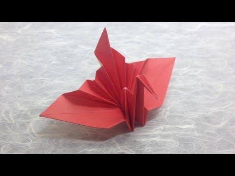 Origami Crane - Kids Origami Paper Crane Craft Tutorial - YouTube | 360x480