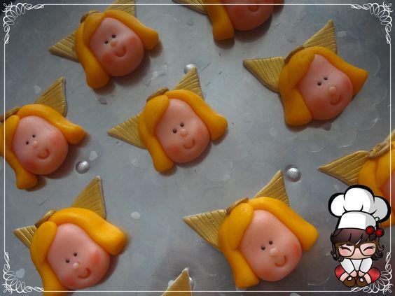 Doces modelados, Shaped candy, Sweet, Leite em pó, Leite Ninho. Pagina: Monike Doces Artesanais Tema: Anjo