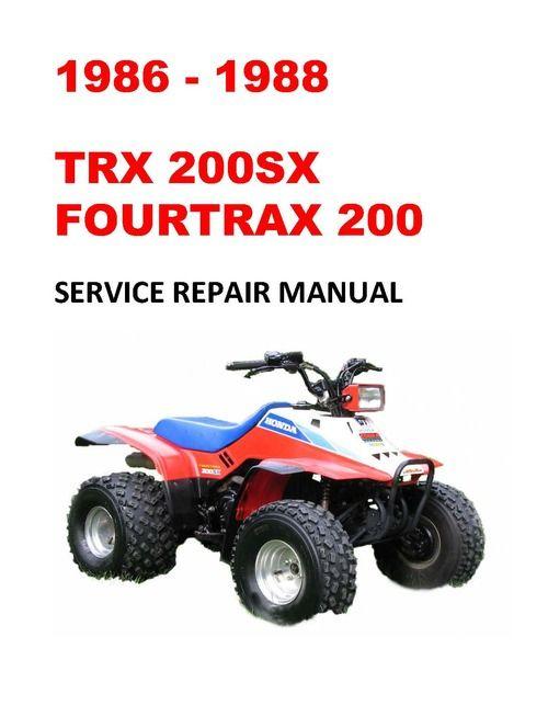 1986 1988 Trx200sx Fourtrax Service Repair Workshop Manual Repair Repair Manuals Light Switch Wiring
