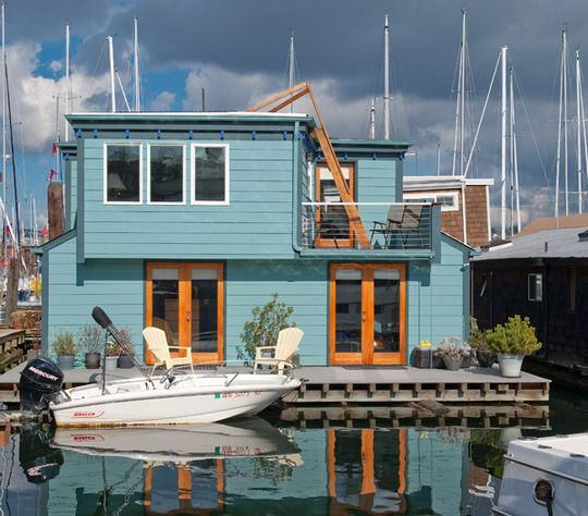 1000 ideas about floating house on pinterest houseboats floating homes and houseboat amsterdam - Floating house seattle ...