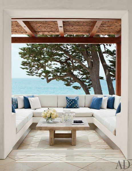 Rustic, cozy California patio | KAA Design and Atelier AM - and a fabulous view with it!
