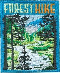 Forest hike merit badge (iron-on)