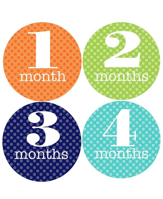 Monthly Onesie Stickers BOY DOTS Fast by littlebabycakesandco, $9.00