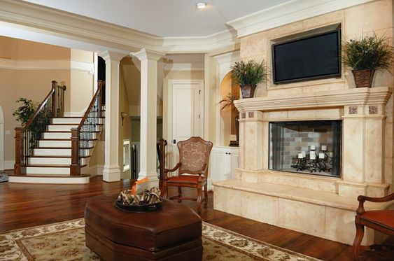 Gaudy Fireplace Design