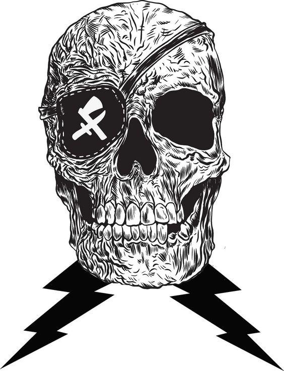 #skull si me convierto en una pila de huesos, no me quites el parche del ojo.
