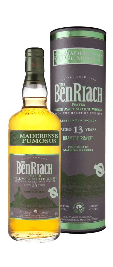 BenRiach 13 yrs Madeira Finish – Maderensis Fumonsus, 88/100pts//JL Nose: 23 Taste: 21 Finish: 22 Balance: 22